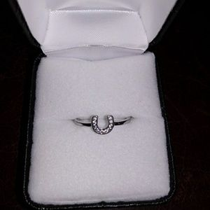 Jewelry - Sterling Silver CZ Horseshoe Ring